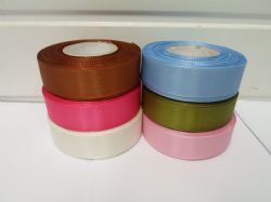 *Full Roll or 2 metres x 25mm Taffeta Ribbon double sided